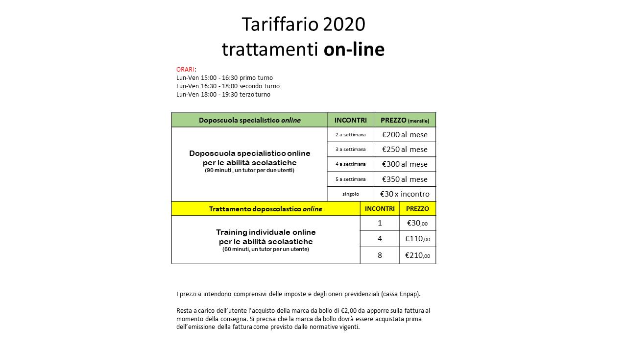 Tariffario Online Messina